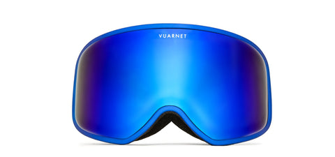 Vuarnet -  Metalized Matte Blue Snow Goggles / Grey Blue Flash Lenses