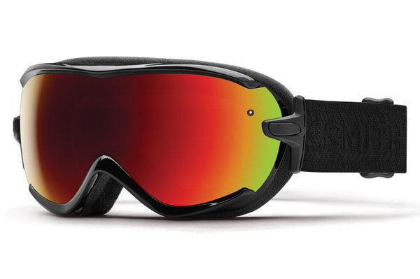 Smith - Virtue Black Eclipse Goggles, Red Sol-X Mirror Lenses