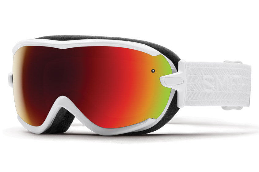 Smith - Virtue White Eclipse Goggles, Red Sol-X Mirror Lenses