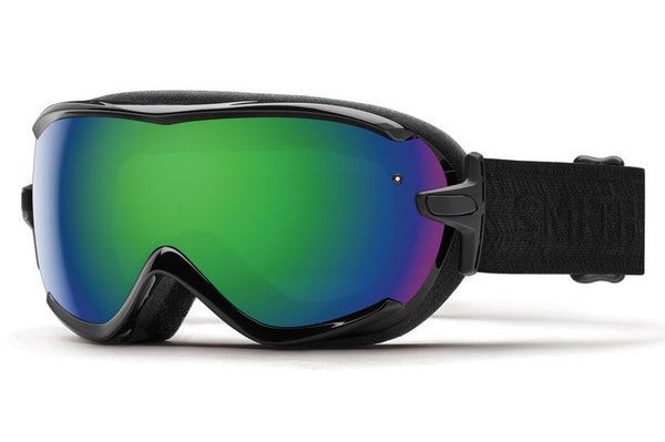 Smith - Virtue Black Eclipse Goggles, Green Sol-X Mirror Lenses
