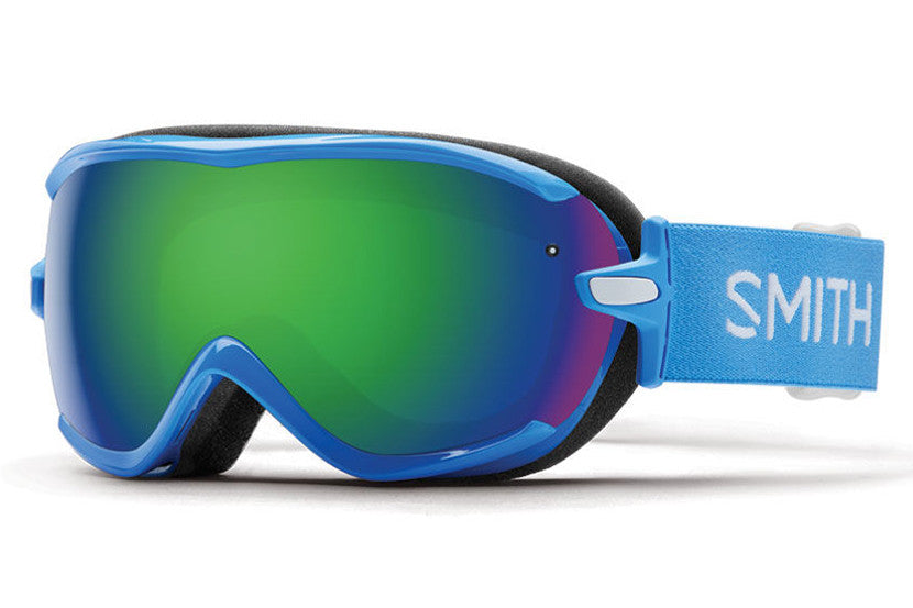 Smith Virtue French Blue Static Goggles, Green Sol-X Mirror Lenses