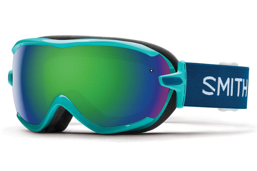 Smith Virtue Opal Static Goggles, Green Sol-X Mirror Lenses