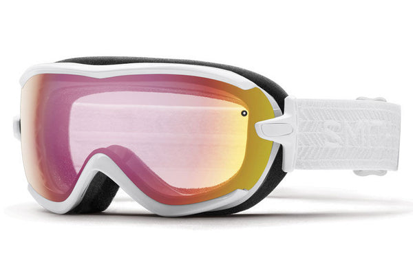 Smith - Virtue White Eclipse Goggles, Red Sensor Mirror Lenses