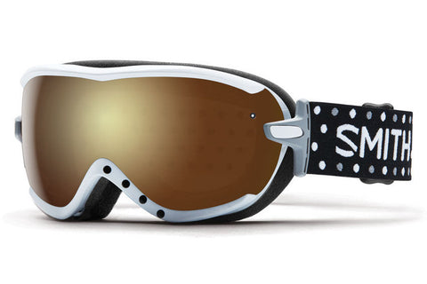 Smith - Virtue Asian Fit White Dots Goggles, Gold Sol X Mirror Lenses