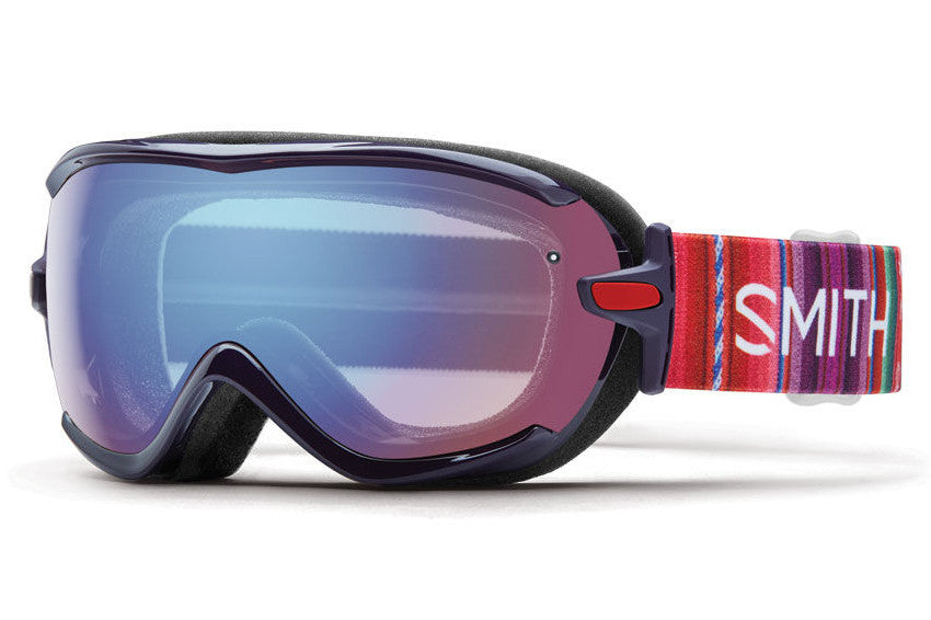 Smith - Virtue Black Cherry Cuzco Goggles, Blue Sensor Mirror Lenses