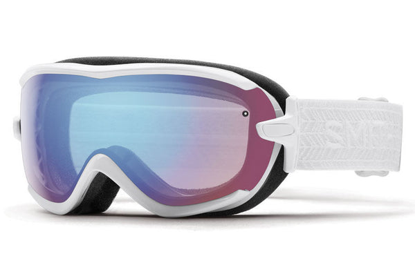 Smith - Virtue White Eclipse Goggles, Blue Sensor Mirror Lenses