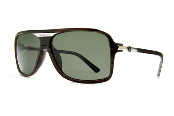 VonZipper - Stache Tortoise Satin TOR Sunglasses, Vintage Grey Lenses