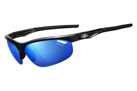 Tifosi - Veloce Gloss Black Sunglasses, Interchangeable Clarion Blue / EC / GT Lenses