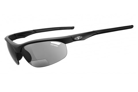 Tifosi - Veloce Matte Black Sunglasses, Smoke Reader Lenses