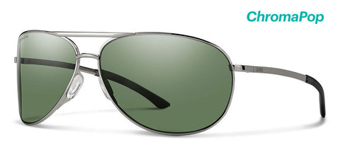 Smith - Serpico 2 Gunmetal Sunglasses / ChromaPop Polarized Gray Green Lenses