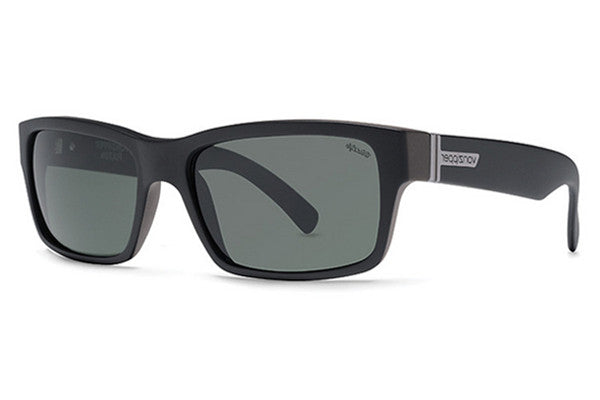 VonZipper - Fulton Black Smoke Satin PSV Sunglasses, Wildlife Vintage Polarized Lenses