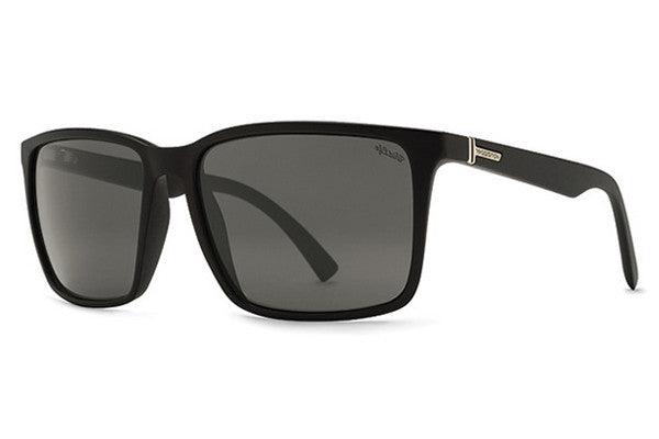 VonZipper Lesmore Black Gloss PBV Sunglasses, Wildlife Vintage Grey Polarized Lenses