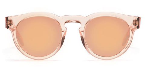 Westward Leaning - Voyager 40 Polished Blush Translucent Acetate Sunglasses / Rose Gold Mirror Lenses