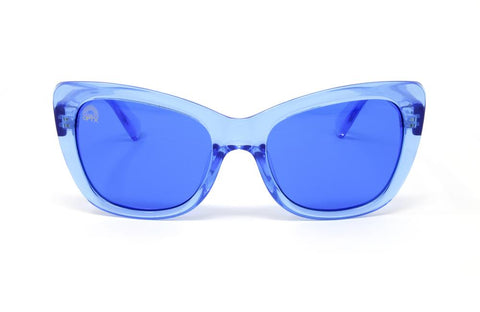 RainbowOPTX - Vega Transparent Blue Sunglasses / Blue Lenses
