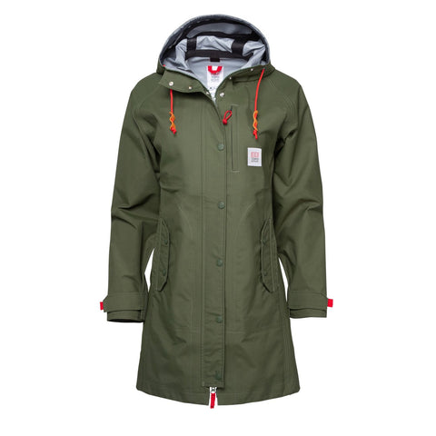 Topo Designs - Women's Tech Trench Olive Hoodie