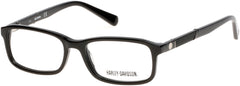 Harley-Davidson - HD0129T Shiny Black Eyeglasses / Demo Lenses