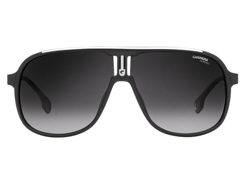 Carrera - 1007 Matte Black Sunglasses / Dark Gray Gradient Lenses