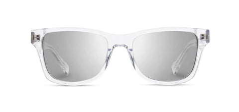 Shwood - Canby Crystal Sunglasses / Silver Mirror Lenses