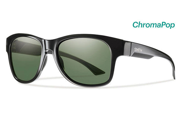 Smith - Wayward Black Sunglasses, ChromaPop Polarized Gray Green Lenses