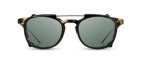 Shwood - Kennedy City Havana + Black Clip Sunglasses / G15 Polarized Lenses