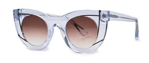 Thierry Lasry - Wavvvy Clear Sunglasses / Brown Gradient Lenses