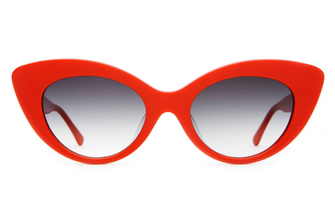 Crap Eyewear - Wild Gift Cherry Red Sunglasses / Grey Gradient Lenses