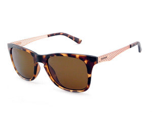 Peppers Stellar Matte Champagne Tortoise Sunglasses / Rose Gold Lenses