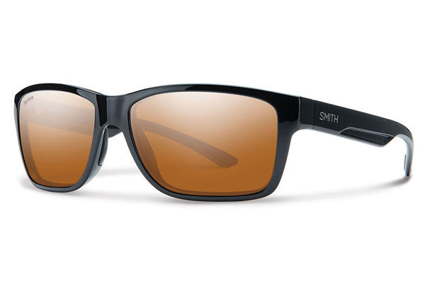 Smith - Wolcott Black Sunglasses, Techlite Polarchromic Copper Mirror Lenses