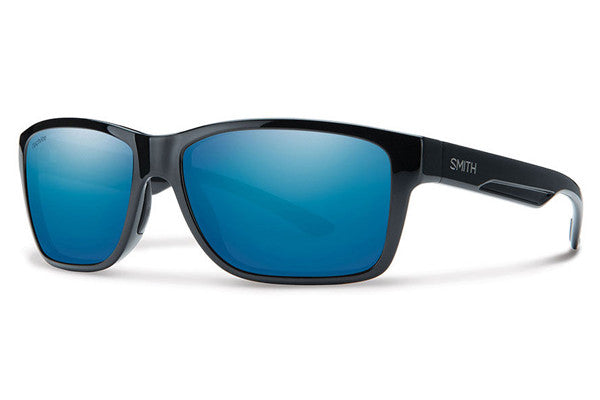 Smith - Wolcott Black Sunglasses, Techlite Polarized Blue Mirror Lenses