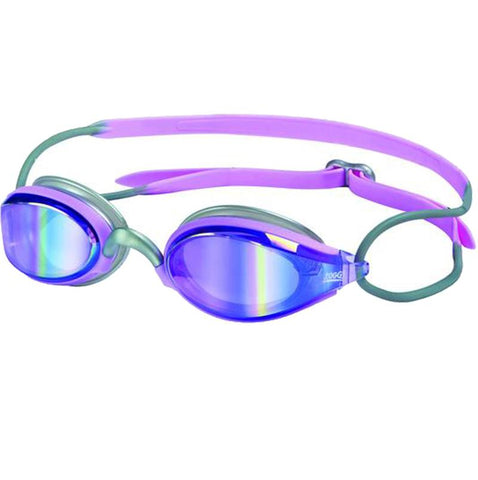Zoggs - Women's Podium Silver Pink Swim Goggles / Blue Mirror Lenses