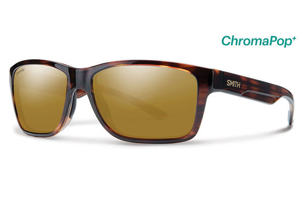 Smith - Wolcott Tortoise Sunglasses, ChromaPop+ Polarized Bronze Mirror Lenses