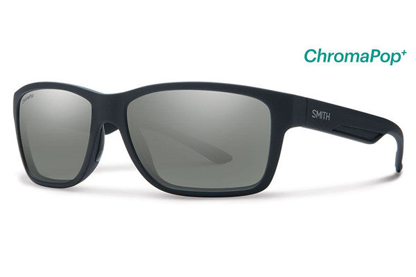 Smith - Wolcott Matte Black Sunglasses, ChromaPop+ Polarized Platinum Lenses