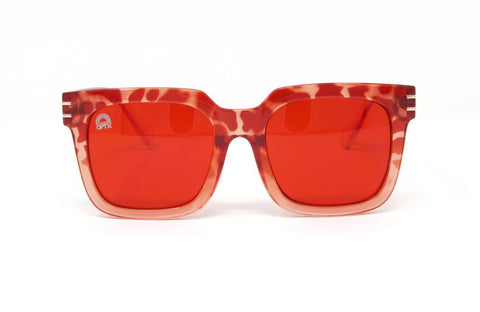 RainbowOPTX - Unit Leopard Sunglasses / Red Lenses
