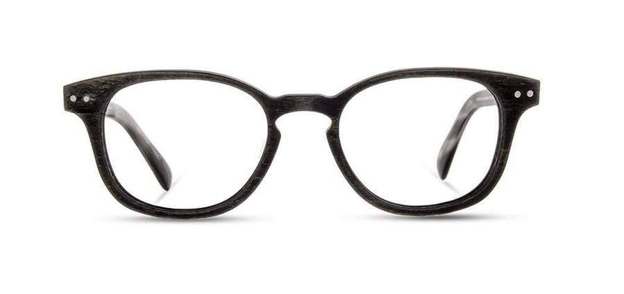 Shwood - Quimby Wood Distressed Dark Walnut Eyeglasses / Demo Lenses