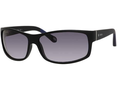 Fossil - 3036  Matte Black  Sunglasses / Gray Gradient Lenses