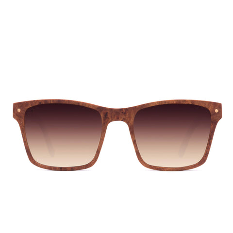 Proof Tamarack Wood Ebony Sunglasses / Grey Polarized Lenses