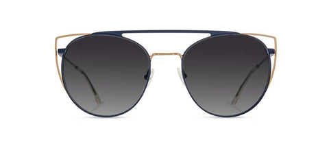 Shwood - Zena Sapphire + Gold Sunglasses / Grey Fade Polarized Lenses