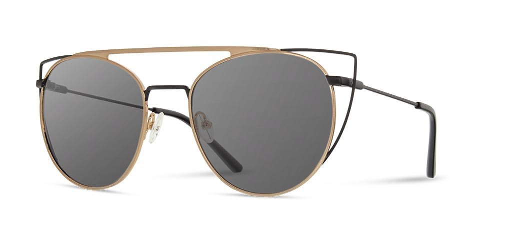 49415517426 ... Shwood - Zena Obsidian + Gold Sunglasses   Grey Polarized Lenses ...