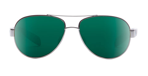 Native - Haskill Chrome Maple Tortoise Sunglasses / Green Reflex Lenses