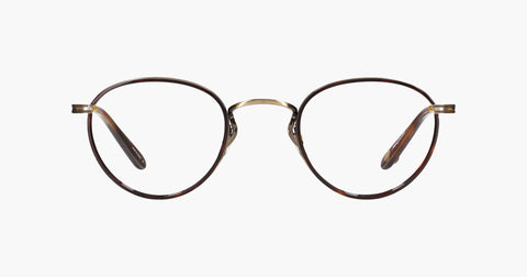 Garrett Leight - Walgrove Red Tortoise Brushed Gold Whiskey Tortoise Eyeglasses / Demo Lenses