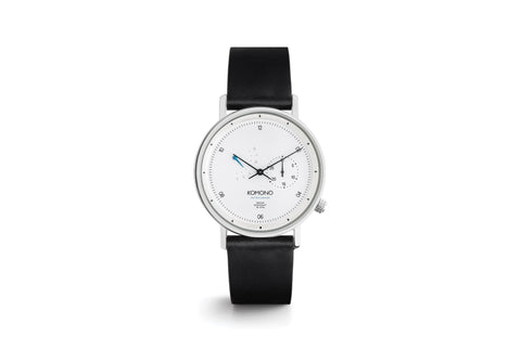 Komono - Walther Retrograde White Watch