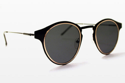 Spitfire Warp Black & Gold Sunglasses, Black Lenses