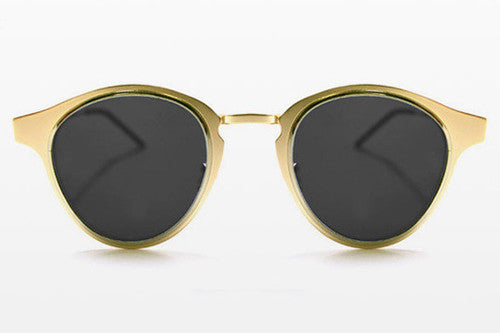Spitfire - Warp Gold & Silver Sunglasses, Black Lenses