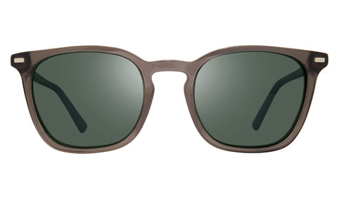 Revo - Watson 51mm Crystal Grey Sunglasses / Smoky Green Lenses