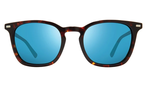 Revo - Watson 51mm Tortoise Sunglasses / Revo Blue Lenses