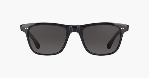 Garrett Leight - Wavecrest Black Laminate Crystal Sunglasses / Semi Flat Black Polarized Lenses