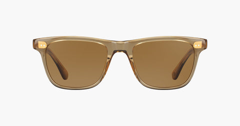 Garrett Leight - Wavecrest Bottle Glass Brown Sunglasses / Semi Flat Sable Polarized Lenses