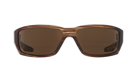 Spy - Dirty Mo Brown Stripe Tortoise Sunglasses / Happy Bronze Polarized Lenses