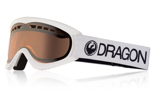 Dragon - DXS White Snow Goggles / Lumalens Silver Ion Lenses