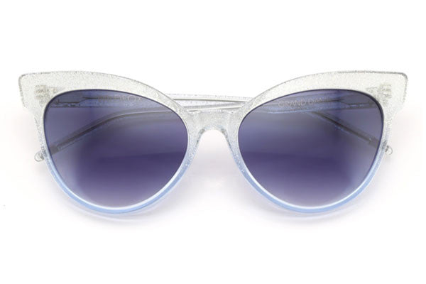 Wildfox - Grand Dame Crystal Cove & Gloss Silver Sunglasses